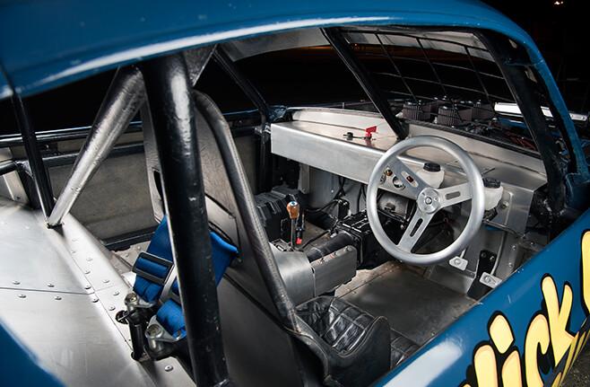 Speedway Mustang interior