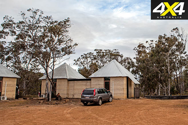 Rammed earth cabins