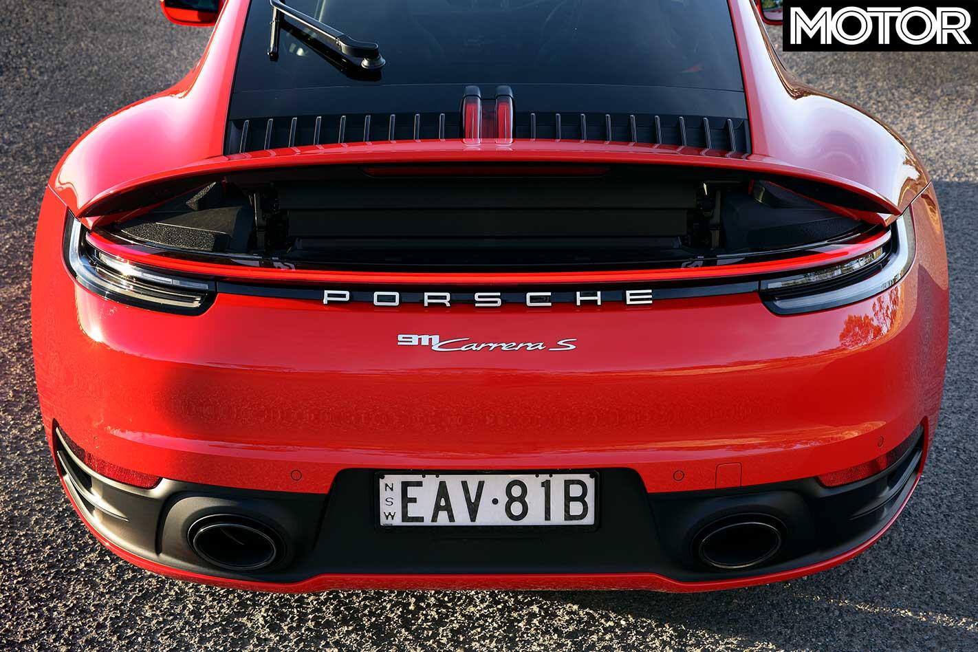 2019 Porsche 911 Carrera S Rear Wing Raised Jpg
