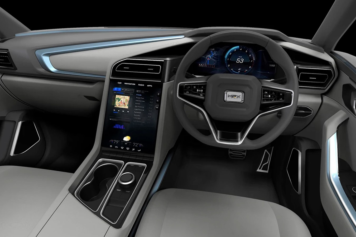 H2X Snowy SUV interior
