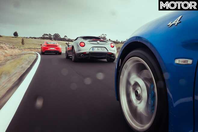 Alpine A 110 Vs Porsche 718 Cayman Vs Alfa Romeo 4 C Spider Track Drive Jpg