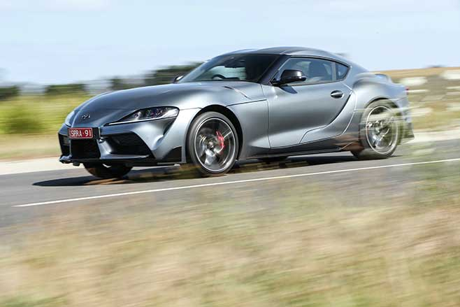 The Supra is claimed to hit 100km/h in just 4.1sec
