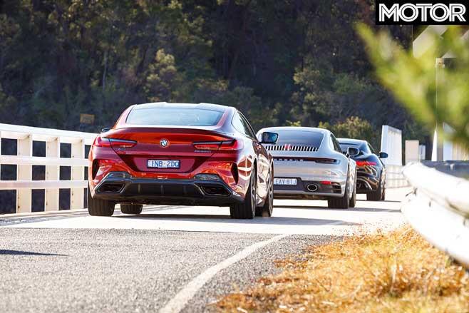 2019 BMW M 850 I Vs Porsche 911 Carrera 4 S Vs Jaguar F Type SVR Comparison Drive Jpg