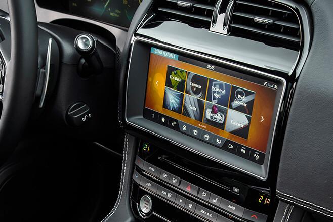 Jaguar interior and infotainment system