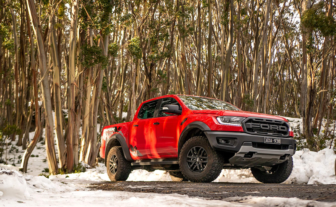 Driving Ford Ranger Raptor in Snow