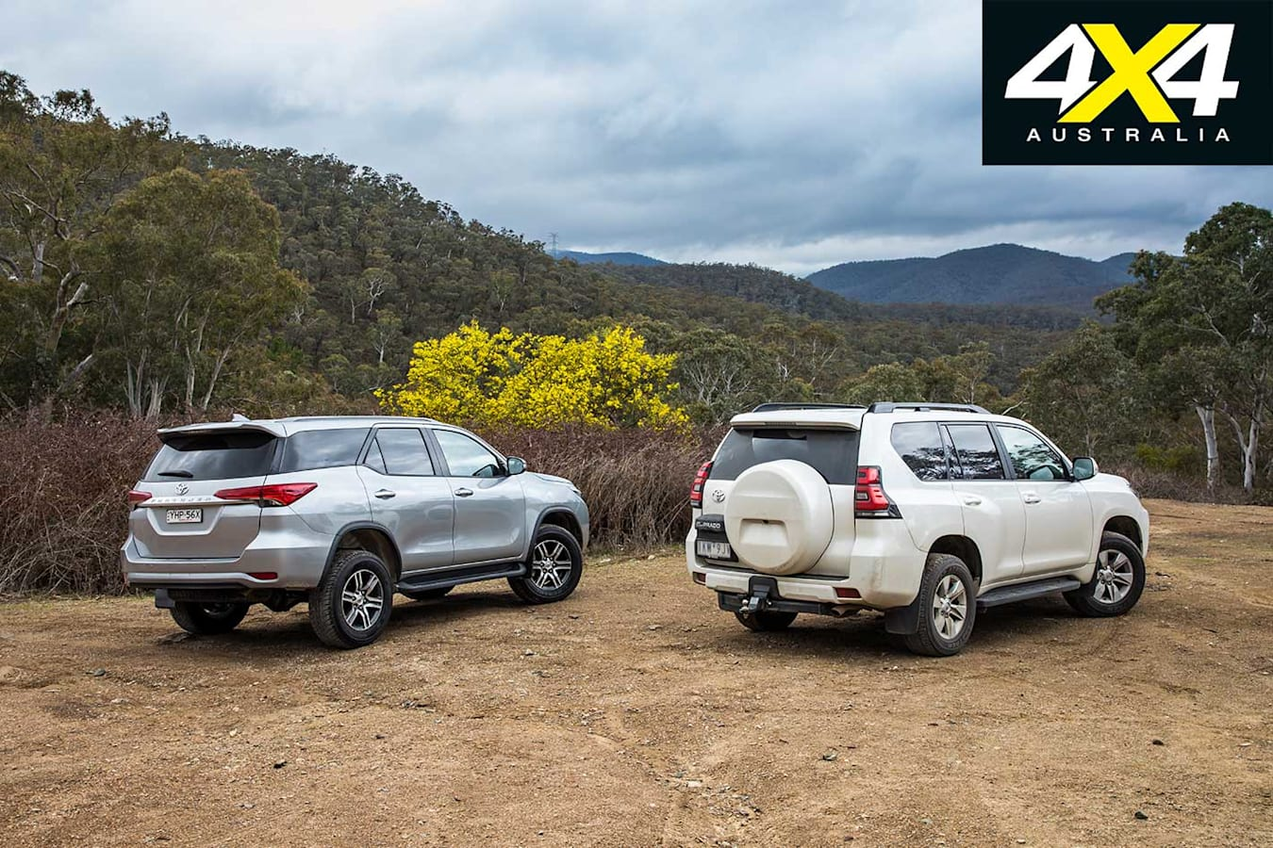 2018 Toyota Prado Vs Toyota Fortuner Comparison Rear Jpg