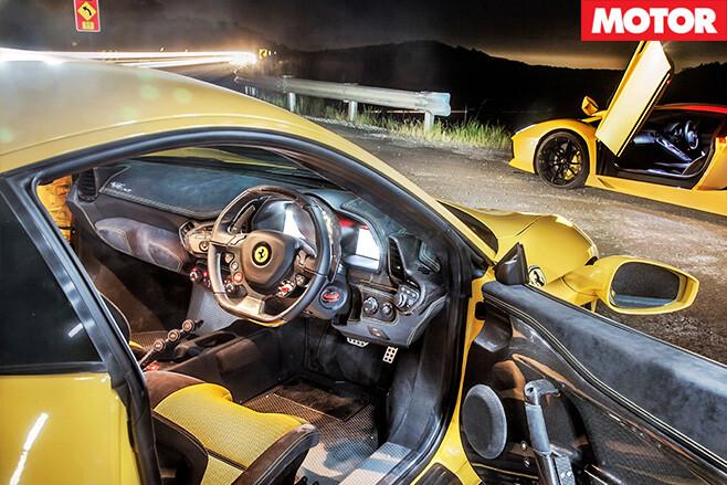 Ferrari 458 speciale driving interior
