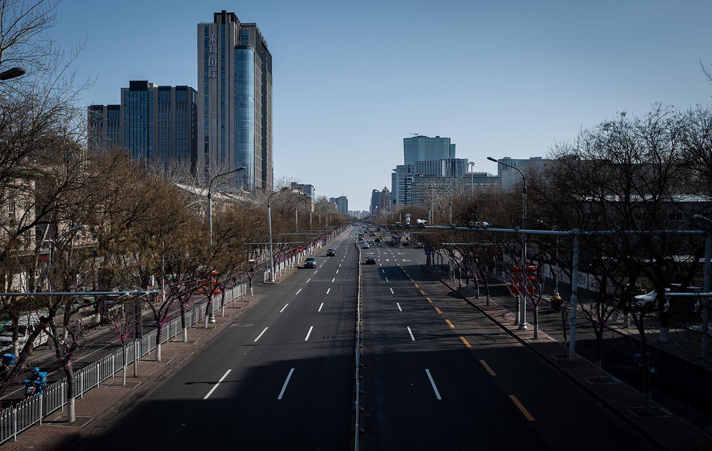 Beijing empty streets coronavirus