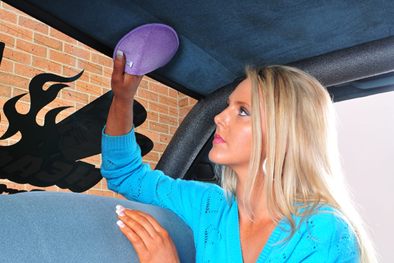 cleaning roof lining