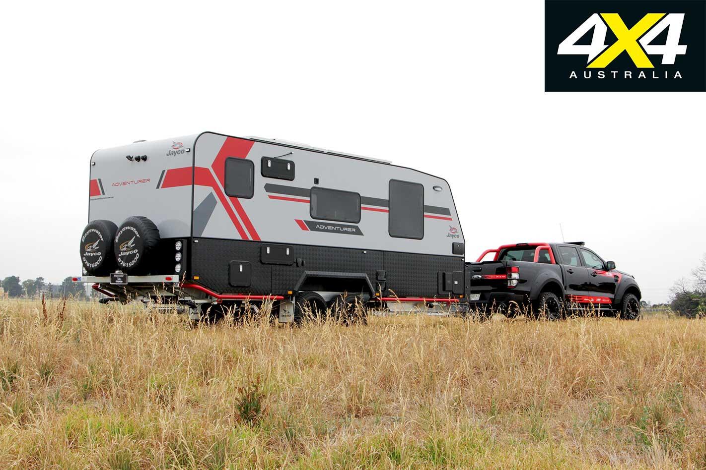 Pedders MS RT Ford Ranger Jayco Adventurer Caravan Setup Jpg