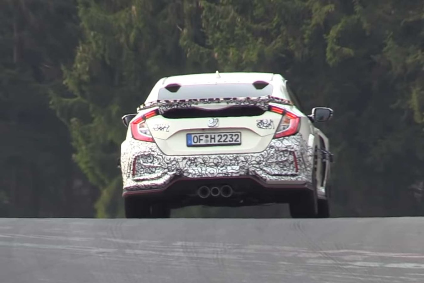2020 Honda Civic Type R Nurburgring Spy Footage New Rear Wing Jpg