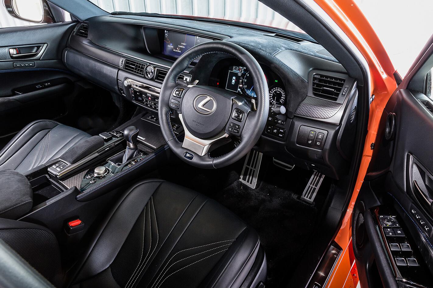 2017 Lexus GS F interior