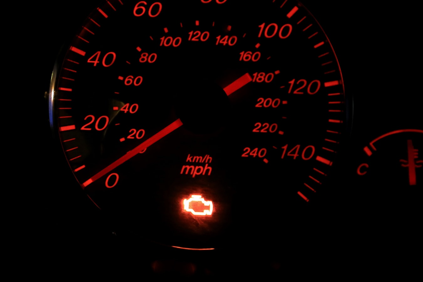 What does the check engine light mean?