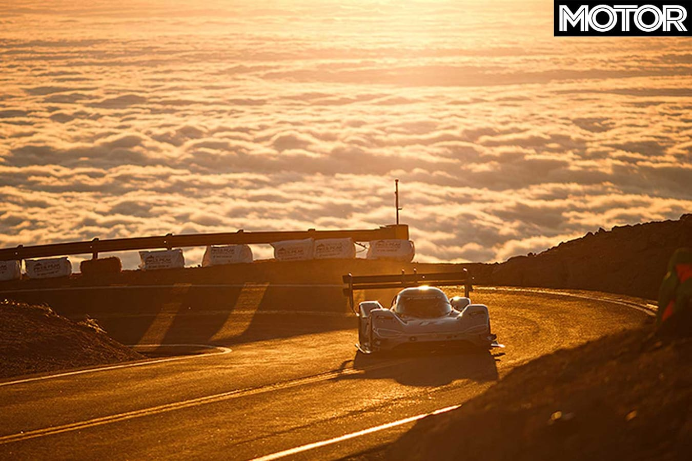 Volkswagen Id R Smashes Pikes Peak Sunset Jpg