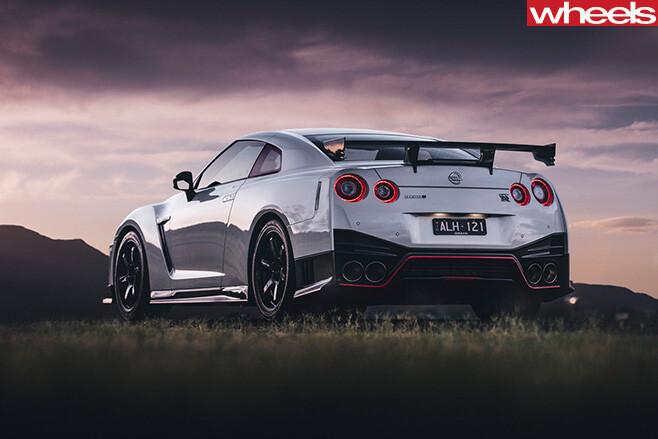 Nissan -GT-R-driving -rear -side