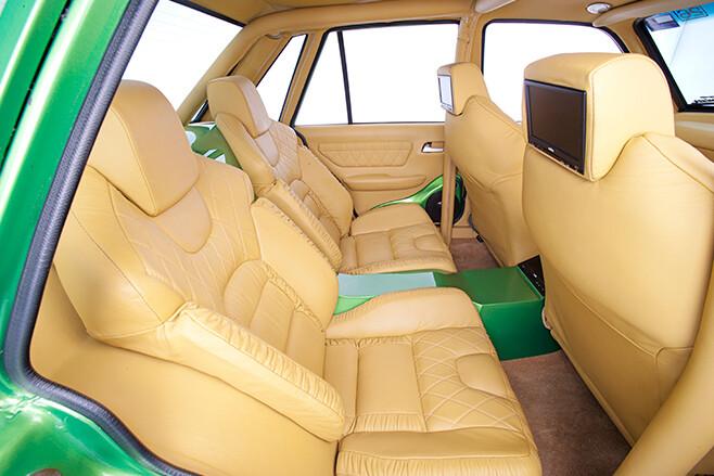 Holden VK Commodore interior rear