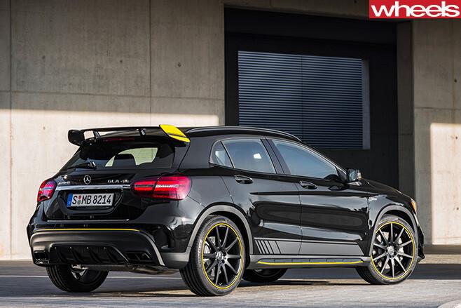 2017-Mercedes -Benz -GLA-45-rear -side