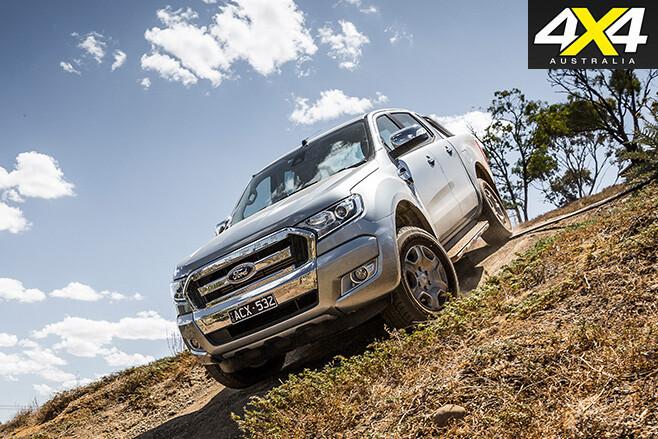 Ford ranger driving downhill