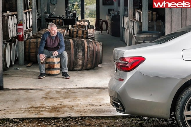 BMW-7-Series -Stephen -Corby -Drinking -Whisky