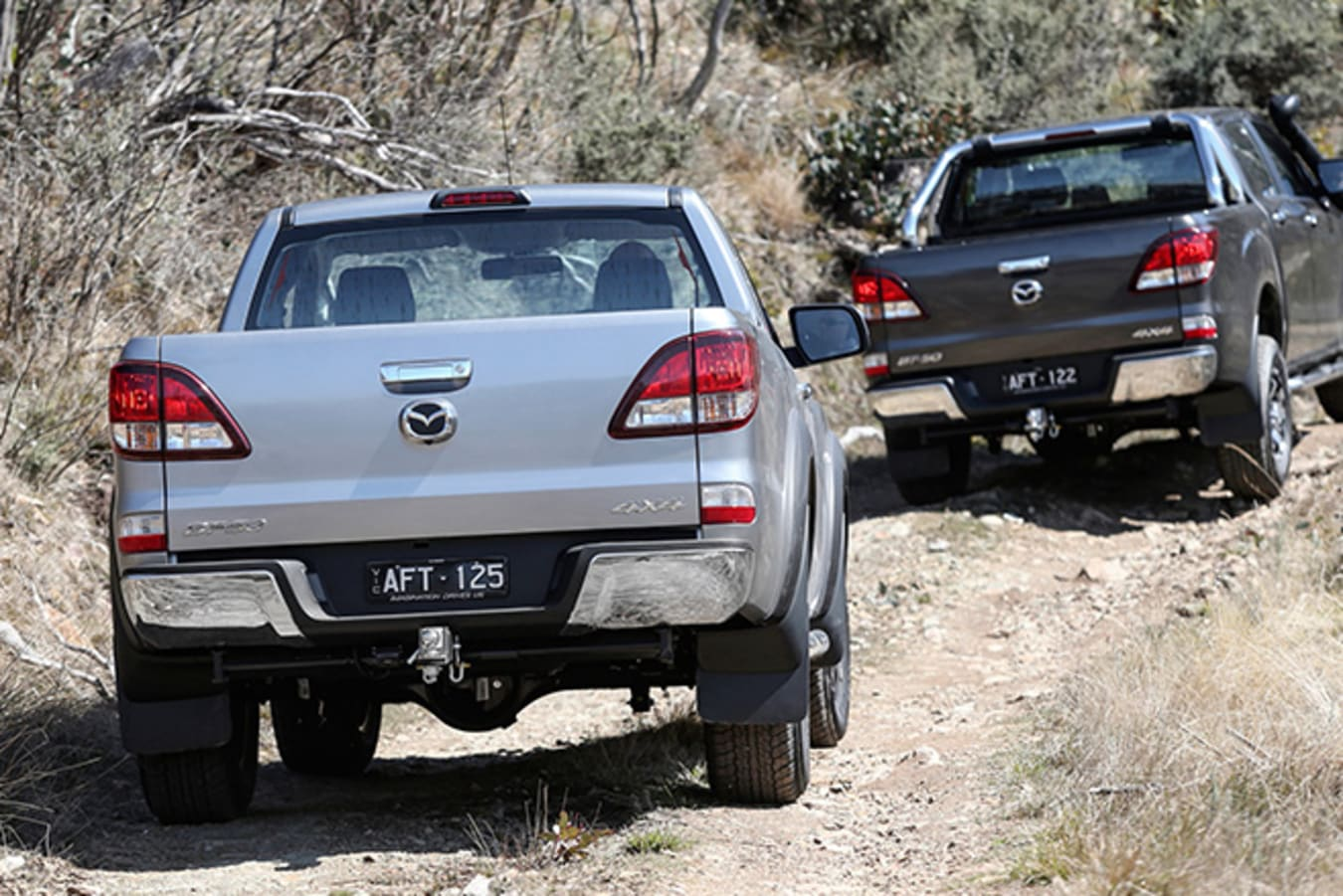 Mazda BT-50 off-road driving course