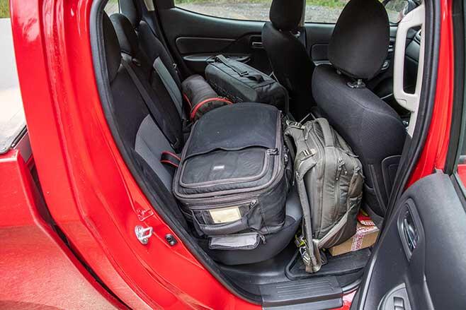 Mitsubishi Triton rear seat space