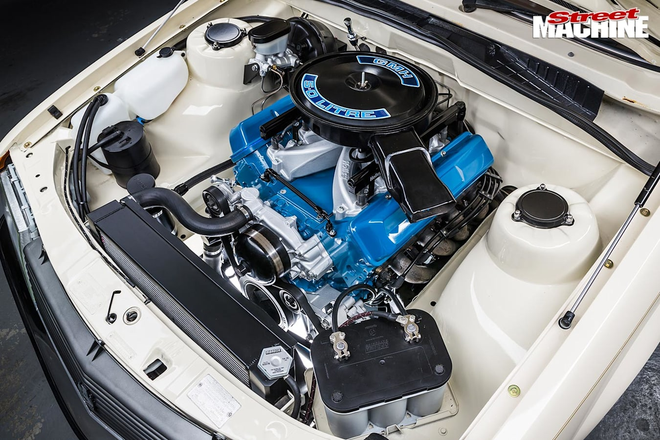 Holden VH Commodore engine bay
