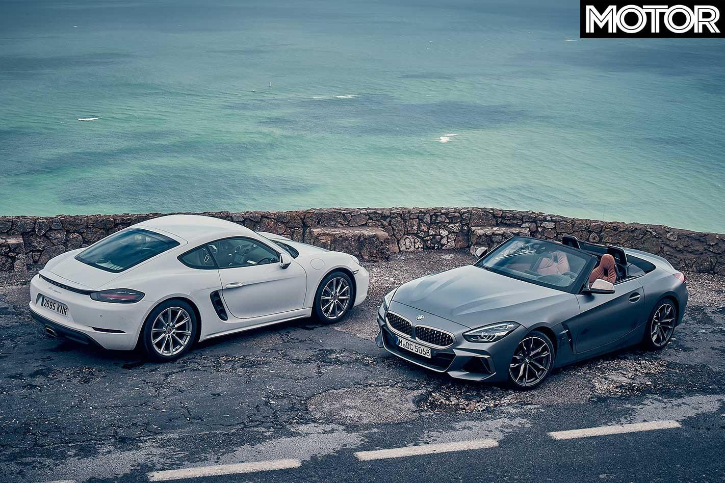 2018 BMW Z 4 M 40 I Vs Porsche 718 Cayman Top Design Comparison Jpg