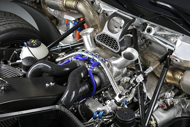 BMW M6 GT3 engine lowered and pushed back