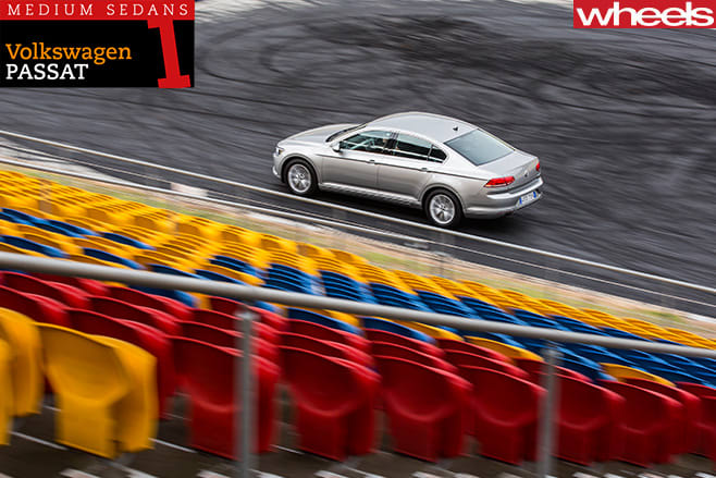 Volkswagen -Passat -driving -rear -side -top