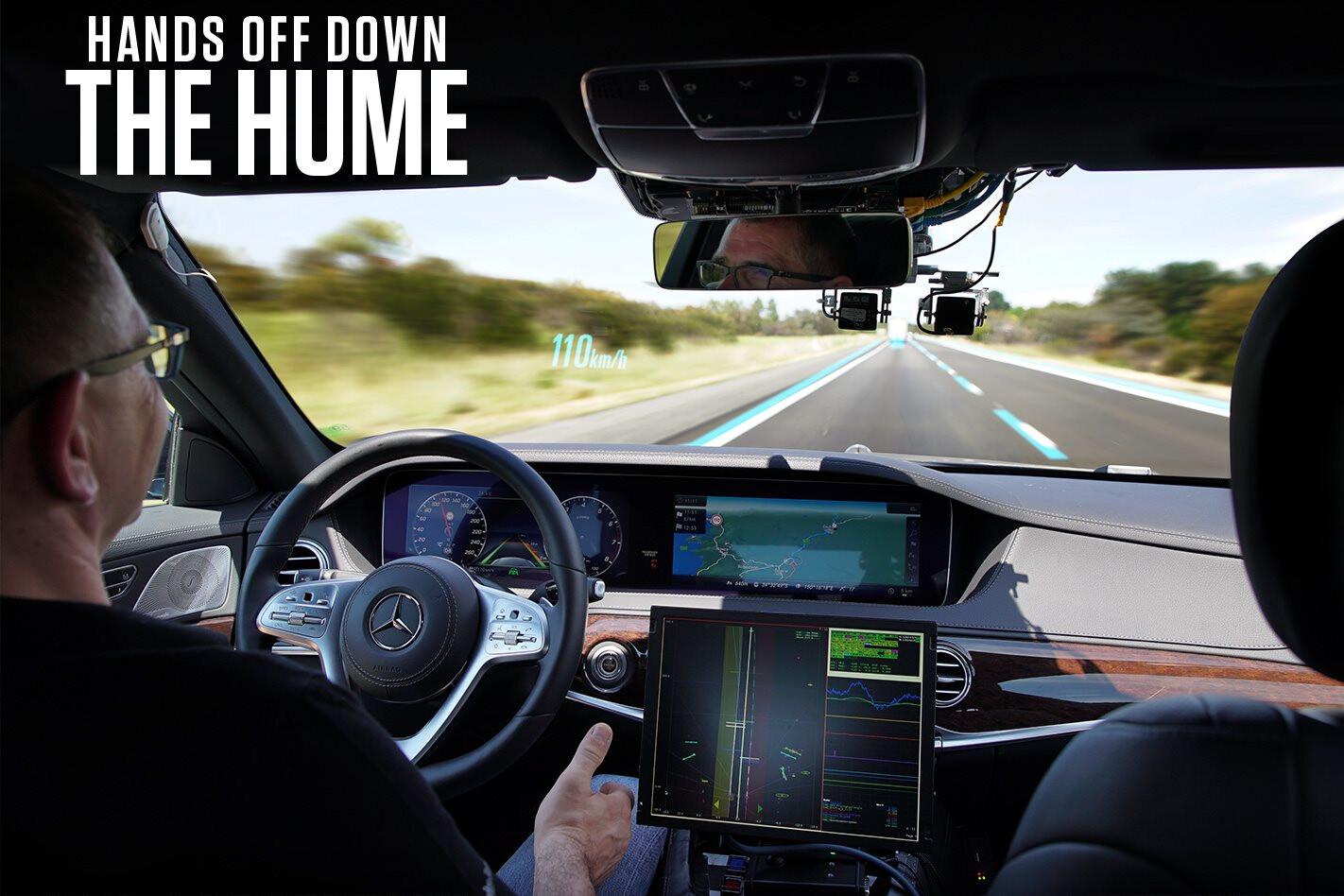 We ride shotgun in an autonomous Mercedes S-class