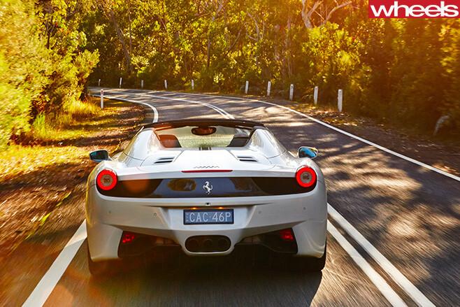 Ferrari -458-convertible -driving