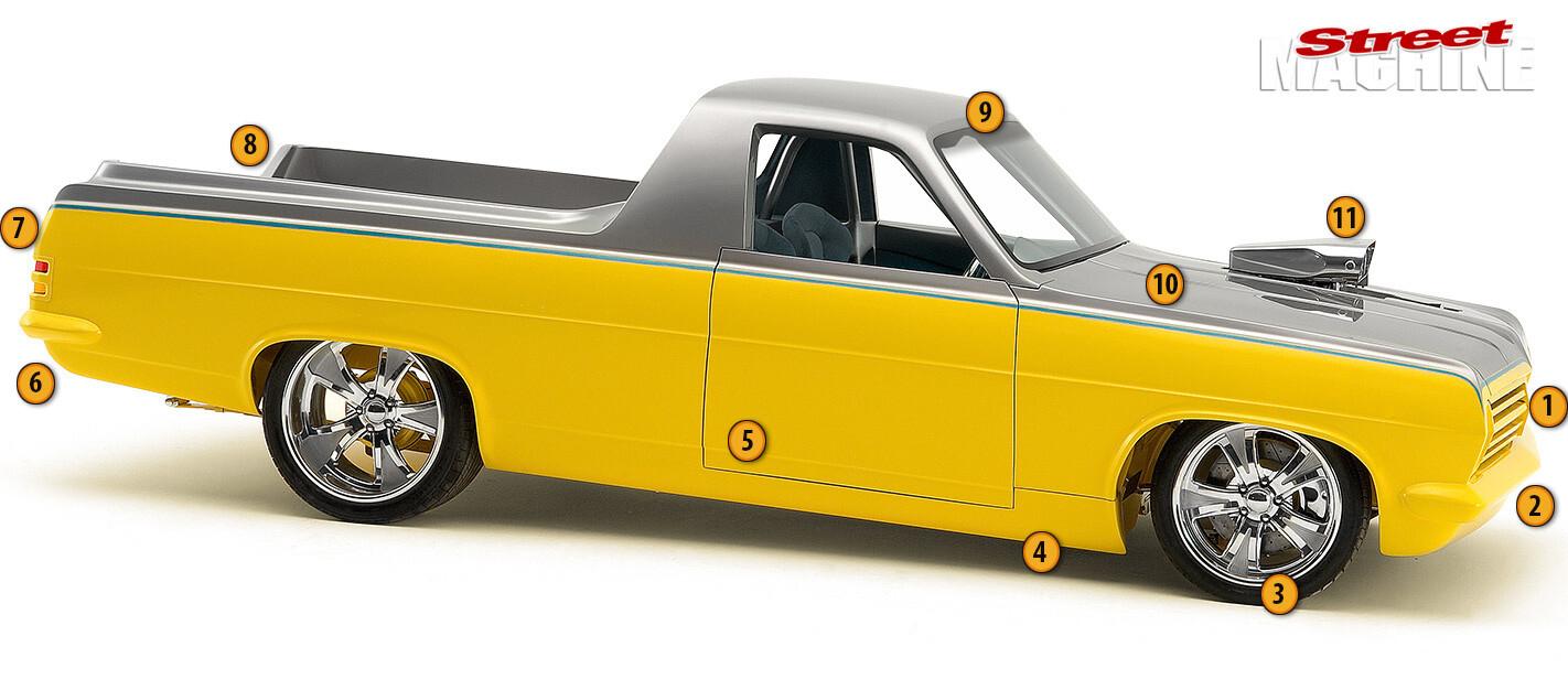 Holden HR ute modifications
