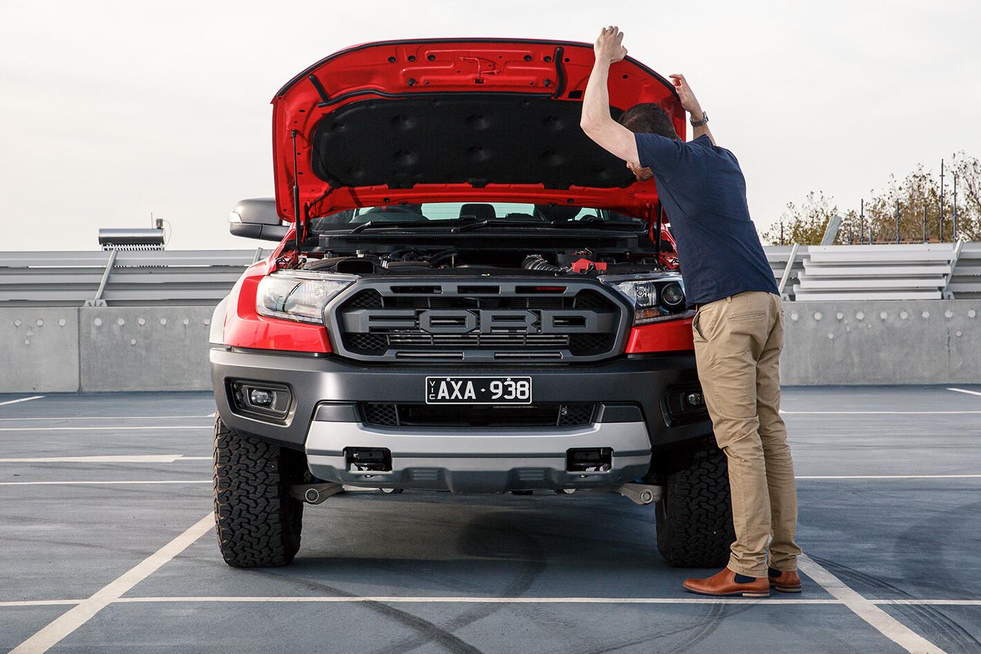 Inspecting the 2019 Ford Ranger Raptor Engine