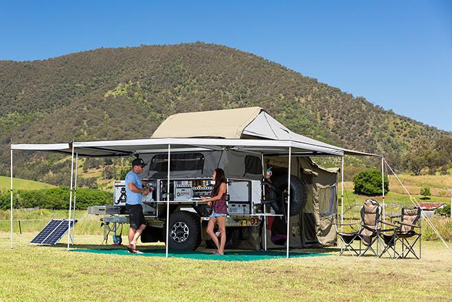 Patriot trailer camper set up