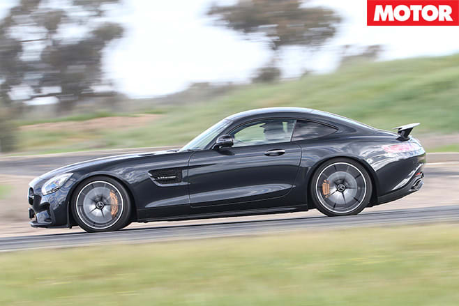 Mercedes-amg gt s driving