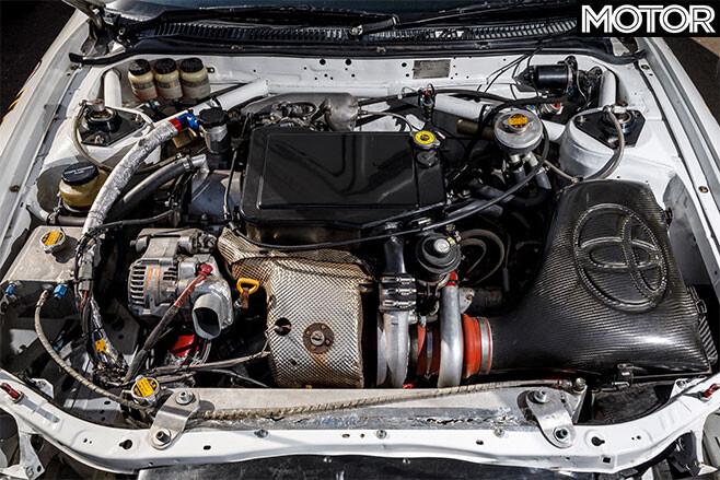 Bates Toyota Celica GT-Four rally car engine