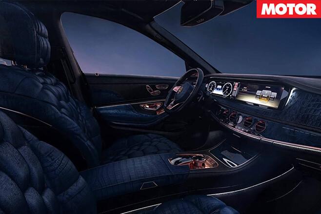 Mercedes Maybach  S600 emperor interior