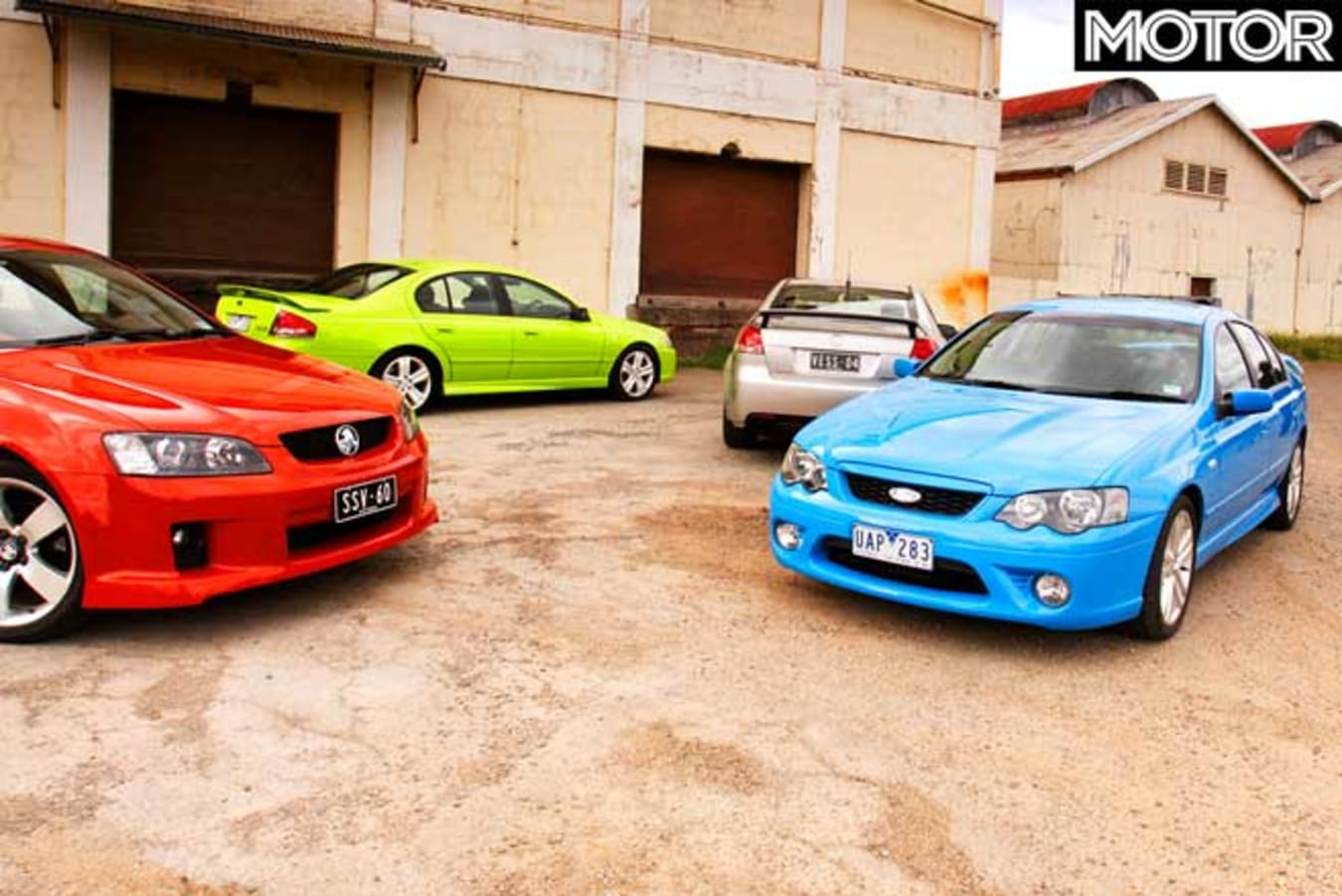 2006 Holden VE Commodore SS SS V Ford Falcon XR 8 XR 6 T Comparison Review Jpg