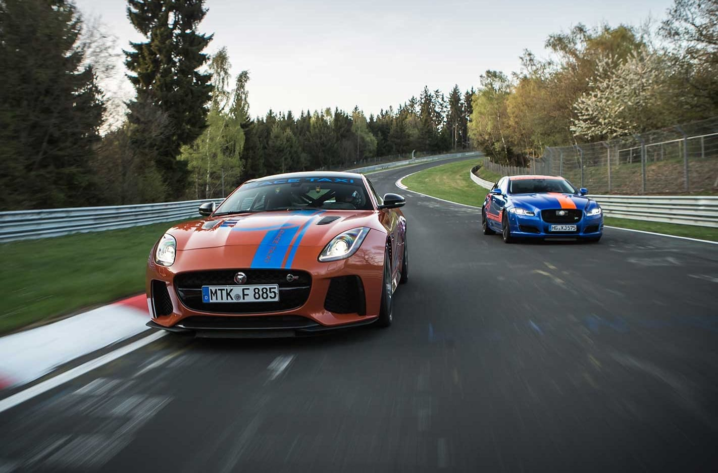 Jaguar F Type SVR and XJR575 become Nurburgring Taxis