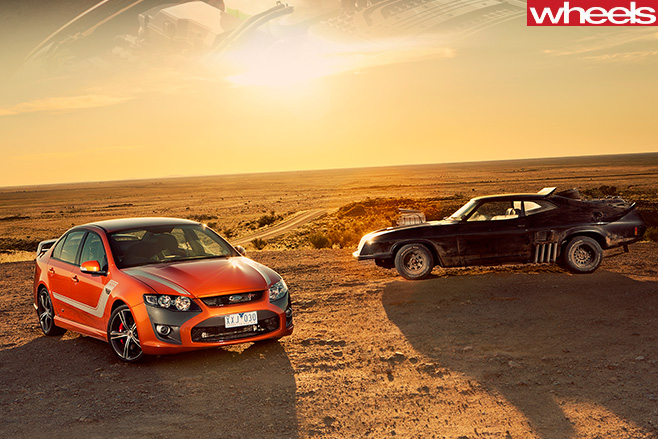 2010-FPV-GT-P-driving -with -Mad -Max -interceptor