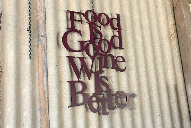 Food Wine Sign