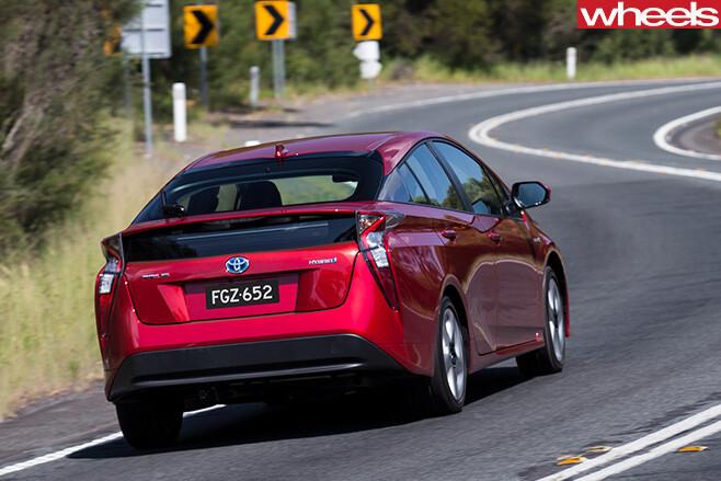 Toyota -Prius -driving -rear