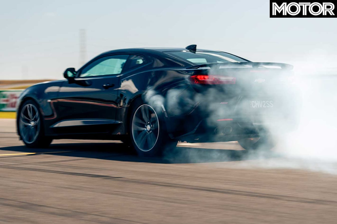 Performance Car Of The Year 2019 Track Test Chevrolet Camaro 2 SS Drag Burnout Jpg