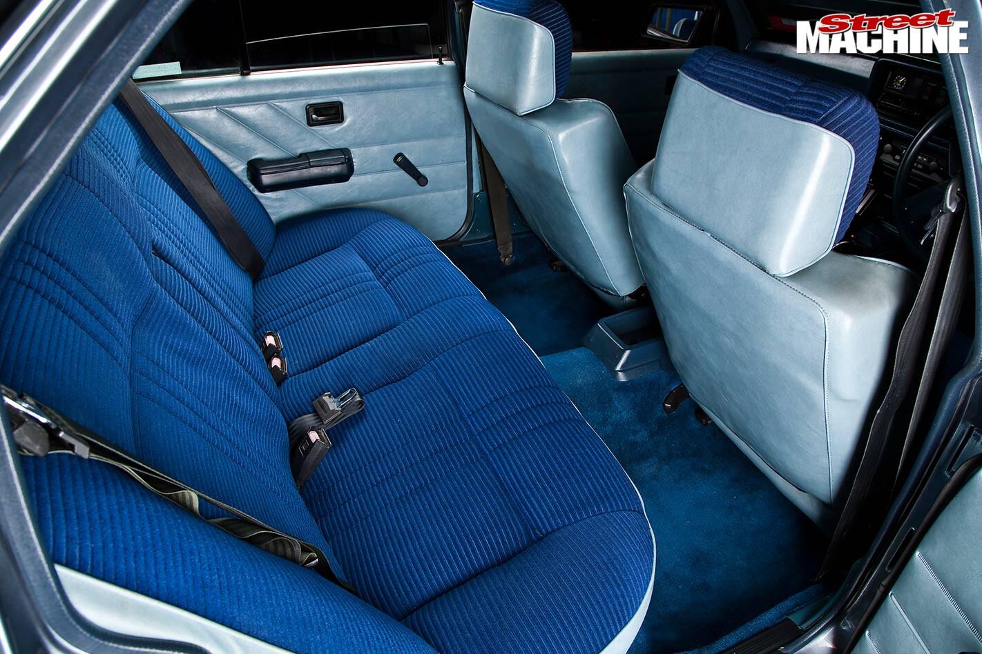 Holden VH Commodore interior rear