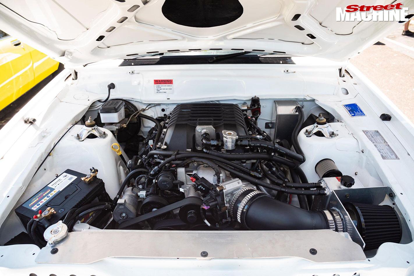 Ford Falcon XD panel van engine bay