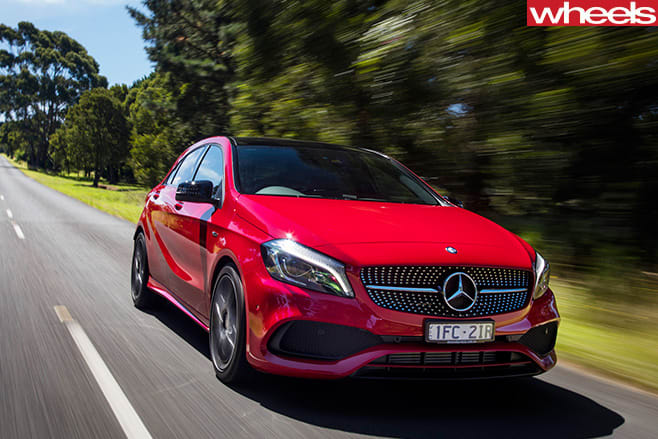Mercedes -A250-front -driving