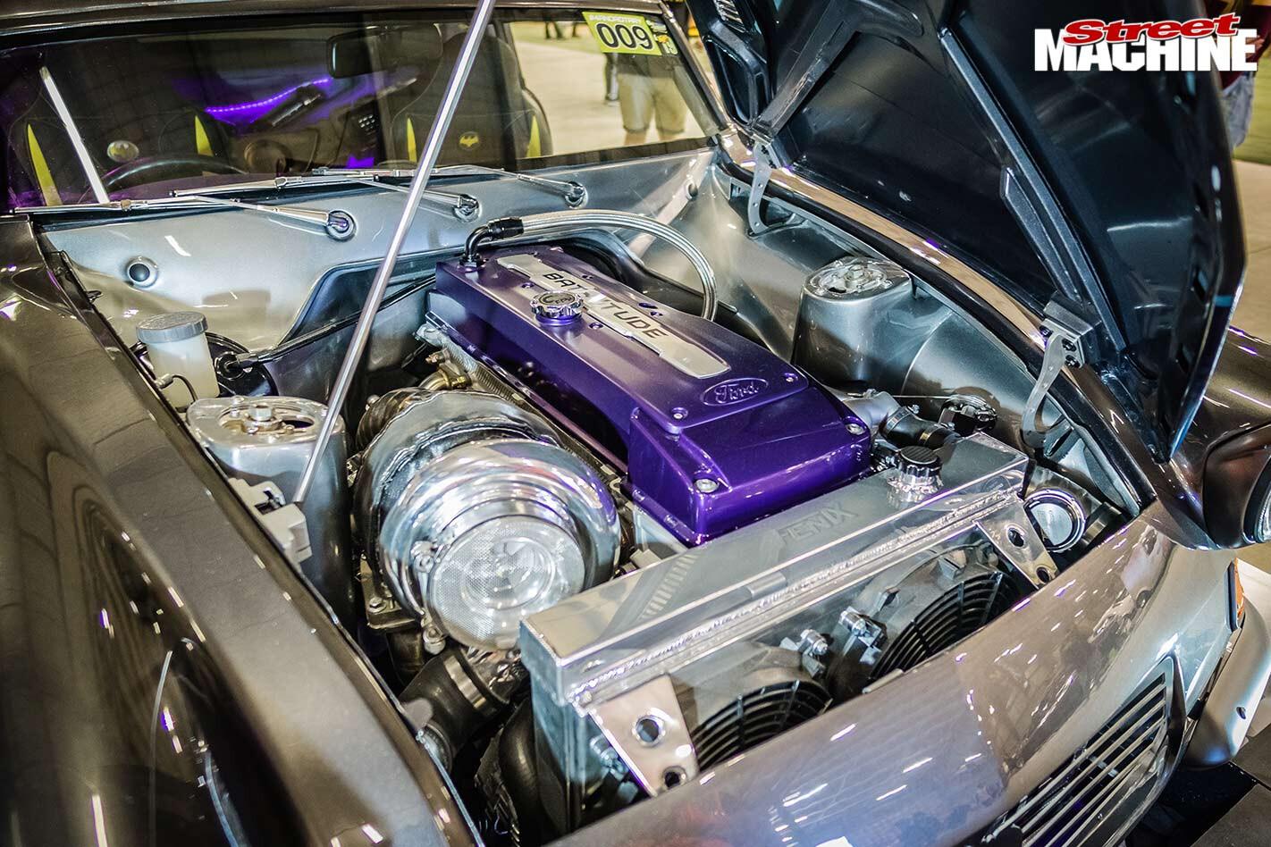 Batmobile engine bay