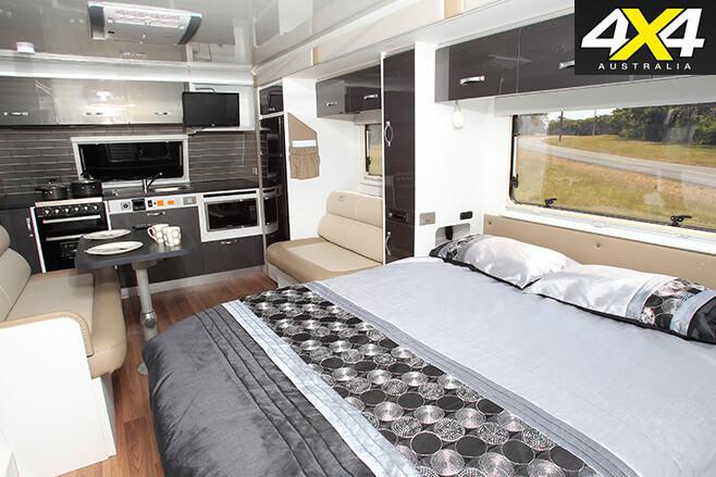 Avida caravan interior bedroom