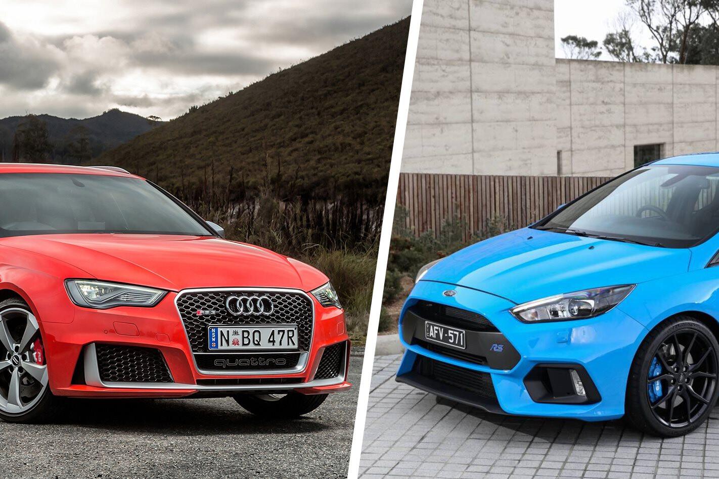 2016 Audi RS3 Sportback vs Ford Focus RS