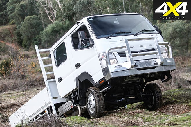Fuso Canter offroad uphill